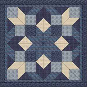 blue winter quilt from cold spell